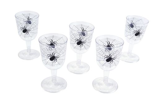 Halloween Spiderweb Goblet (6 pieces in a box) Trick Or Treat Party Decoration